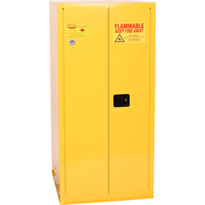 Eagle Mfg Drum Cabinet 55 Gal. Capacity Vertical Manual Close Flammable W/ Drum Supports