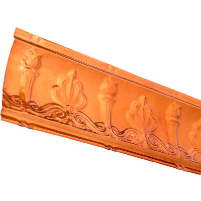 """Great Lakes Tin 48"""" Superior Tin Crown Molding in Copper - 194-08"""