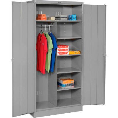 Tennsco Combination Metal Storage Cabinet 1472-MGY - 36x18x72 Medium Grey