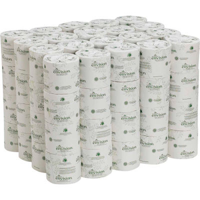 GP Envision White 2-Ply Embossed Bathroom Tissue, 550 Sheets/Roll, 80 Rolls/Case - 19885