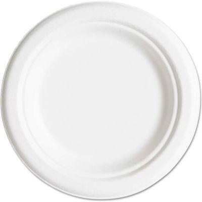 "Eco Products® ECOEPP016PK, Sugarcane Plates, 6"" Dia., Natural White, 50/Pack"