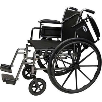 "ProBasics 2015AH Lightweight Wheelchair, 20"" x 16"" Seat, Flip Back Desk Arms, Elevating Legrests"