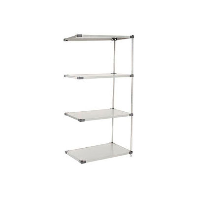 """Nexel® Stainless Steel Solid Shelving Add-On 36""""W x 18""""D x 86""""H"""