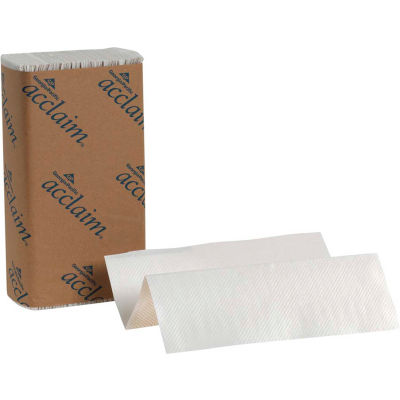 GP Acclaim White Multifold Paper Towels, 250 Sheets/Pack, 16 Packs/Case - 20204