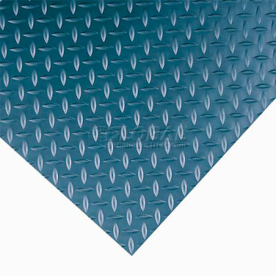 """Wearwell® Diamond-Plate Switchboard Anti Fatigue Mat 1/4"""" Thick 4' x Up to 75' Black"""