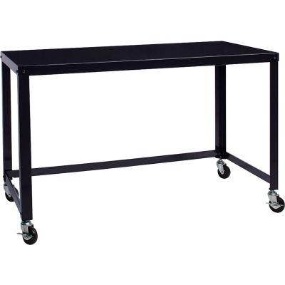 """Hirsh Industries® Steel Industrial 48"""" Mobile Desk in Black"""