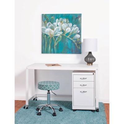 """Hirsh Industries® Steel Industrial 48"""" Mobile Desk in White"""