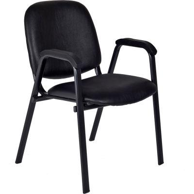 Regency Vinyl Stack Chair - Black - Ace Series