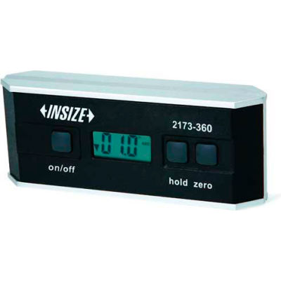 INSIZE Electronic Digital Protractor & Level 0-360°, 2173-360