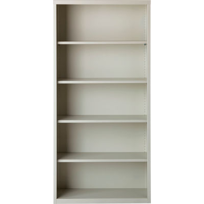 "Hirsh 5 Shelf Bookcase 34-1/2""W x 13""D x 72""H, Gray"