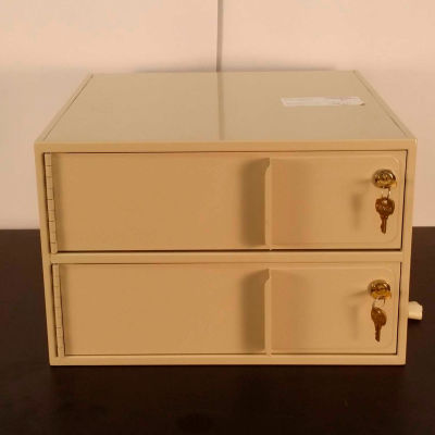 """Fenco Banking Vault & Safe Interiors 2 Compartment 2202-17-I - 16-1/4""""W x 17""""D x 10-5/8""""H Gray"""