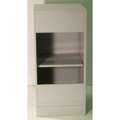 "Fenco Corner Teller Pedestal Cabinet 226-A - 19""W x 19""D x 38-1/2""H Champagne"