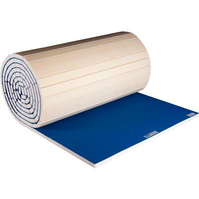 """EZ Flex Sport Mat Cheerleading Mat 1-1/2"""" Thick 6' x 42' Roll Blue"""