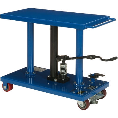 Global Industrial™ Work Positioning Post Lift Table Foot Control 1000 Lb. Cap. 36x18 Platform