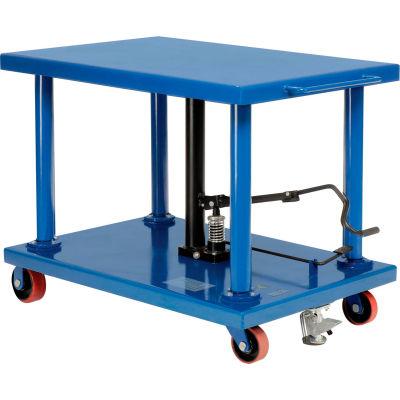Global Industrial™ Work Positioning Post Lift Table Foot Control 6000 Lb. Cap. 48x32 Platform