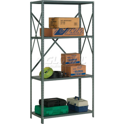 "Global Industrial™ Steel Shelving 20 Ga 48""Wx12""Dx73""H Open Clip Style 4 Shelf"