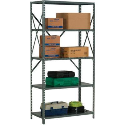 "Global Industrial™ Steel Shelving 20 Ga 48""Wx24""Dx73""H Open Clip Style 5 Shelf"