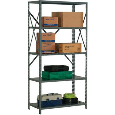 "Global Industrial™ Steel Shelving 20 Ga 36""Wx18""Dx73""H Open Clip Style 5 Shelf"