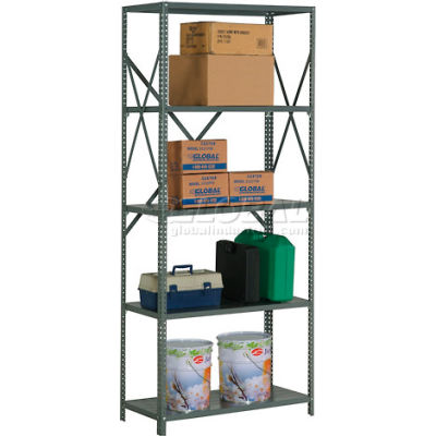 "Global Industrial™ Steel Shelving 20 Ga 36""Wx24""Dx85""H Open Clip Style 5 Shelf"