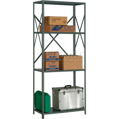 "Steel Shelving 20 Ga 48""Wx30""Dx85""H Open Clip Style 4 Shelf"