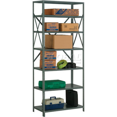"Global Industrial™ Steel Shelving 20 Ga 36""Wx30""Dx85""H Open Clip Style 7 Shelf"