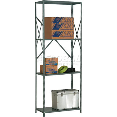 "Global Industrial™ Steel Shelving 20 Ga 48""Wx12""Dx97""H Open Clip Style 4 Shelf"