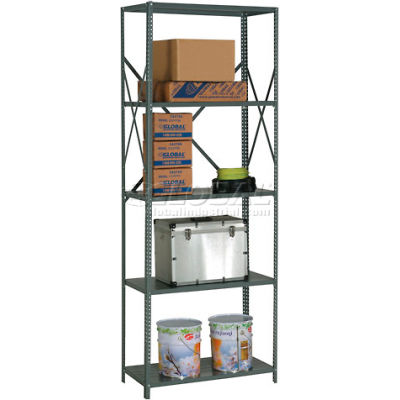 "Global Industrial™ Steel Shelving 18 Ga 36""Wx24""Dx97""H Open Clip Style 5 Shelf"