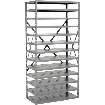 """Global Industrial™ Steel Open Shelving 13 Shelves, No Bins, 36""""L x 18""""W x 73""""H"""