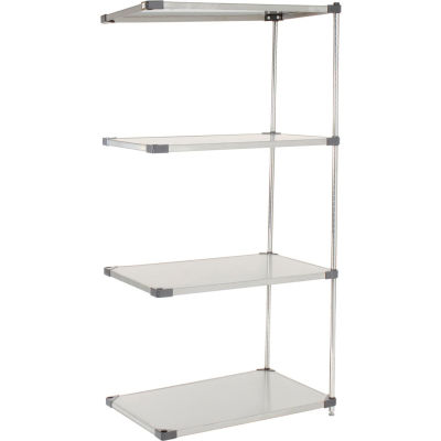 "Nexel® Stainless Steel Solid Shelving Add-On 36""W x 18""D x 63""H"
