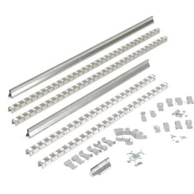 Global Industrial™ Gravity Carton Flow Roller Track Kit 84""