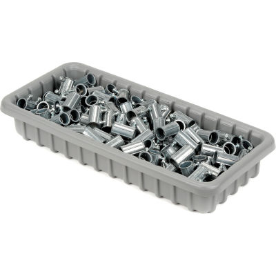 "Dandux Dividable Nesting Plastic Box 50P1811050 -  17-3/4""L x 10-7/8""W x 5""H, Gray - Pkg Qty 5"