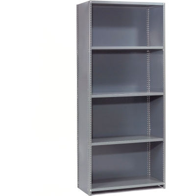 "Steel Shelving 20 Ga 48""Wx18""Dx73""H Closed Clip Style 5 Shelf Starter"