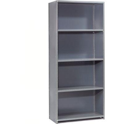 "Steel Shelving 18 Ga 48""Wx30""Dx85""H Closed Clip Style 5 Shelf Starter"