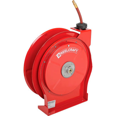 """Reelcraft 5650 OLP 3/8""""x50' 300 PSI Premium Duty All Steel Spring Retractable Compact Hose Reel"""