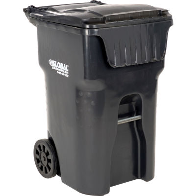 Global Industrial™ Mobile Trash Container, 95 Gallon Gray