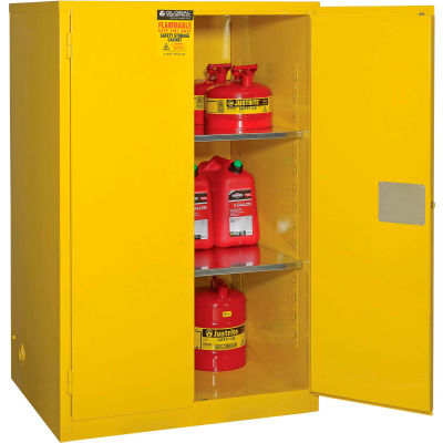 "Global Industrial™ Flammable Cabinet, 90 Gallon Manual Close Double Door, 43""W x 34""D x 65""H"