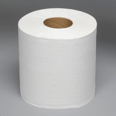 """2-Ply Center-Pull Perforated Hand Towels 8"""" x 10"""", White 600 Ft./Roll, 6/Case - BWK6400"""