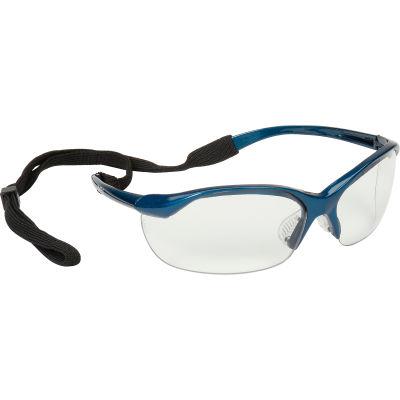 Vapor Safety Eyewear - Clear, Metallic Blue