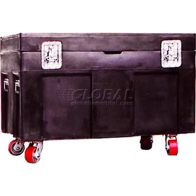 """Myton Shipping Container and Site Box RC-4534H5 with Casters - 45""""L x 30""""W x 34""""H, Black"""
