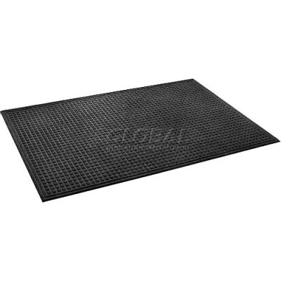 """Apache Mills Absorba™ Indoor Entrance Mat 3/8"""" Thick 4' x 6' Black"""