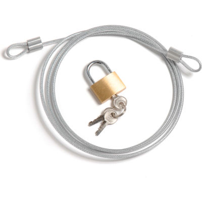 Global Industrial™ Security Cable Kit, Includes Cable Padlock And 3 Keys