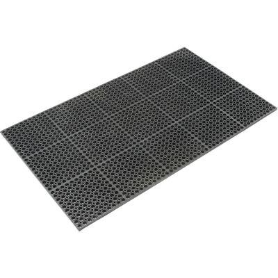 "TruTread™ Comfort Drainage Matting, 7/8"" Thick, 3'W X 5'L, Black Grease Resistant"