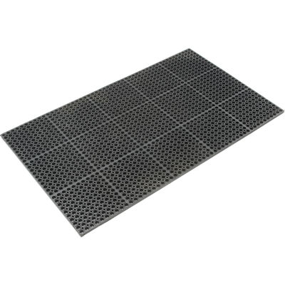 "Apache Mills TruTread™ Anti Fatigue Drainage Mat 7/8"" Thick 3' x 5' Black"