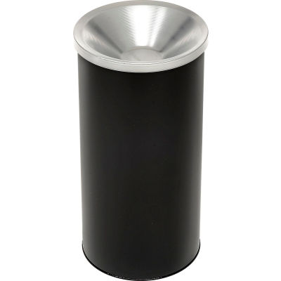 "Steel Smoker Sand Urn Black With Aluminum Top 10"" Dia. X 20""H - 2000BK"