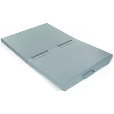 Lid for 1-1/2 Cu Yd Wright™ Gray Self Dumping Hopper