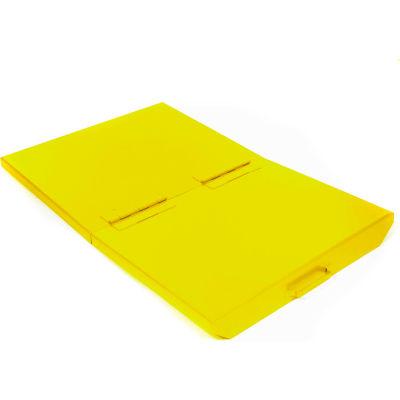 Hinged Lid for 1 Cu Yd Global Industrial™ Self-Dumping Hopper, Yellow