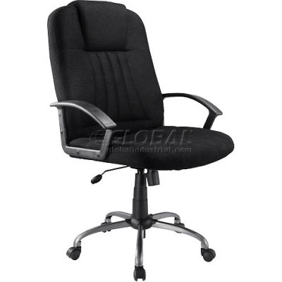 Interion® Executive Office Chair - Fabric - High Back - Black