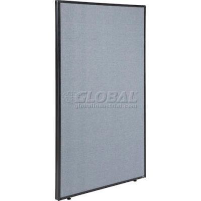 "Interion® Office Partition Panel, 36-1/4""W x 60""H, Blue"