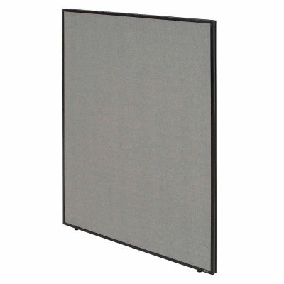 """Interion® Office Partition Panel, 36-1/4""""W x 60""""H, Gray"""