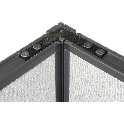 """Interion® 90 Degree Corner Connector Kit For 64"""" H Panel With 1 Pass Through Cable"""